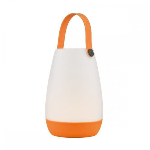 Dar BEP422 Beppe Outdoor Table Lamp Opal Acrylic Colour Changing LED